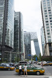 亚洲、中国、北京, CBD中心商务区、街道、高楼和现代建筑学 免版税库存图片