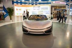 亚洲、2016年中国北京国际科学技术产业Expoï ¼ ŒFuture电动车,概念汽车 库存图片