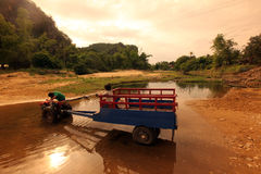 亚洲东南亚老挝KHAMMUAN区域 库存照片