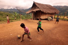 亚洲东南亚老挝VANG VIENG琅勃拉邦 库存图片