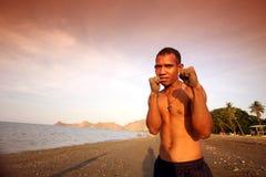 亚洲东帝汶东帝汶帝力海滩拳击 库存图片