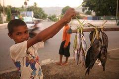 亚洲东帝汶东帝汶帝力海滩渔 库存照片
