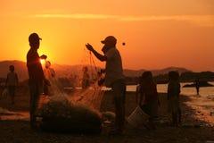 亚洲东帝汶东帝汶帝力海滩渔 免版税库存照片