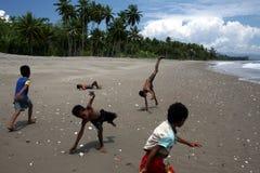 亚洲东帝汶东帝汶UAITAME海滩 免版税图库摄影
