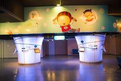 亚洲中国人、北京、妇女和儿童的博物馆,室内展览室 免版税库存图片