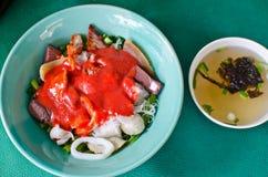 亚洲中国烹调elicious鱼fu粘贴充塞了tau yong 免版税图库摄影