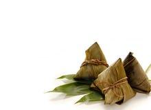 亚洲中国米饺子或zongzi 免版税库存图片