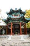 亚洲中国,北京,中山公园,古色古香的大厦亭子 免版税库存照片