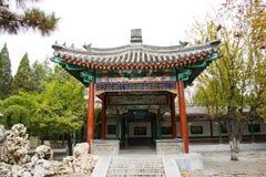 亚洲中国,北京,中山公园,古色古香的大厦亭子 库存图片