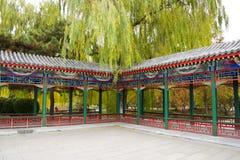 亚洲中国,北京,中山公园,古色古香的大厦,亭子画廊 库存图片