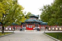 亚洲中国,北京,中山公园,景观,亭子,画廊 库存照片
