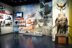 亚洲中国,北京,人抵抗战争的博物馆反对日本人Aggressionï ¼ ŒIndoor陈列的 库存照片
