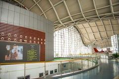 亚洲中国,北京,民航博物馆,室内展览室 免版税库存图片