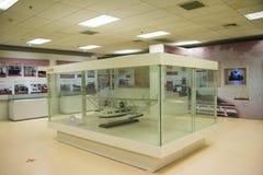 亚洲中国,北京,民航博物馆,室内展览室 免版税图库摄影
