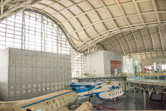 亚洲中国,北京,民航博物馆,室内展览室 库存图片
