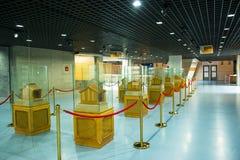 亚洲中国,北京,计划的展览室,室内展览室 免版税库存图片