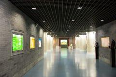 亚洲中国,北京,计划的展览室,室内展览室 免版税库存照片