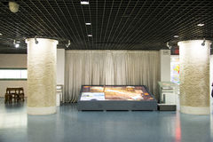 亚洲中国,北京,计划的展览室,室内展览室 免版税图库摄影