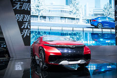 亚洲中国,北京, 2016国际汽车陈列,室内展览室,奇瑞概念汽车FV2030 免版税库存照片