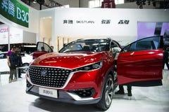 亚洲中国,北京, 2016国际汽车陈列,室内展览室,奔腾X6,概念汽车, 图库摄影