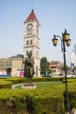 亚洲中国,天津,音乐公园,巴赫雕塑 免版税库存照片