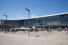 亚洲中国,现代建筑学,全国民政会议中心 库存照片
