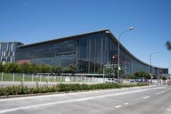 亚洲中国,现代建筑学,全国民政会议中心 免版税库存照片