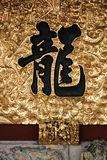 亚洲书法-龙 免版税库存照片