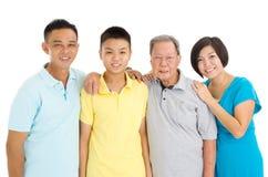 亚洲人三世代家庭 库存照片