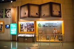 亚洲人中国,北京,中国全国影片Museumï ¼ ŒIndoor展览室, 图库摄影