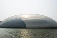 亚洲人中国,北京,中国国家大剧院 库存图片