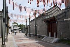 亚洲人中国,北京,前门商业街,台湾商业区 免版税库存照片