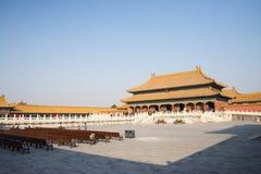 亚洲人中国,北京,历史建筑,故宫 免版税库存图片