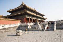 亚洲人中国,北京,历史建筑,故宫 免版税图库摄影