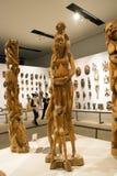 亚洲人中国,北京,国家博物馆,展览室,非洲,木雕刻 免版税库存图片