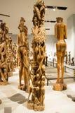 亚洲人中国,北京,国家博物馆,展览室,非洲,木雕刻 免版税库存照片
