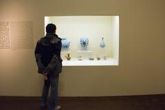 亚洲人中国,北京,国家博物馆, iThe陈列,西部地区,丝绸之路 免版税图库摄影