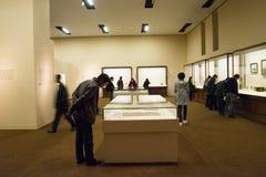 亚洲人中国,北京,国家博物馆, iThe陈列,西部地区,丝绸之路 免版税库存照片