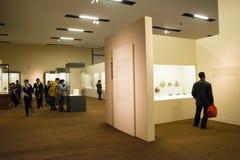 亚洲人中国,北京,国家博物馆, iThe陈列,西部地区,丝绸之路 免版税库存图片