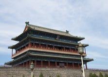 亚洲人中国,北京,正阳门,门, 库存图片