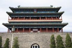亚洲人中国,北京,正阳门,门, 图库摄影