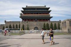 亚洲人中国,北京,正阳门,门, 库存照片