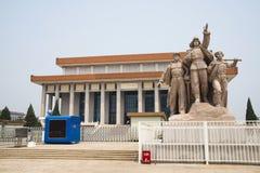 亚洲人中国,北京,毛泽东主席纪念堂 免版税图库摄影