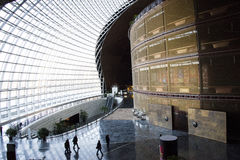 亚洲人中国,北京,现代建筑学,国家大剧院 免版税库存图片