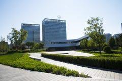 亚洲人中国,北京,现代建筑学 免版税库存照片