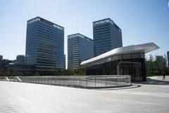 亚洲人中国,北京,现代建筑学 免版税库存图片
