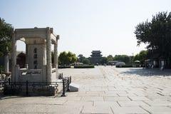 亚洲人中国,北京,芦沟桥,地方历史的利益和优美的风景 库存照片