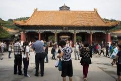 亚洲人中国,北京,颐和园, dian Pai的yun 库存照片