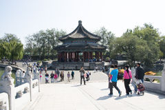 亚洲人中国,北京,颐和园, Kuo Ru铃声 免版税库存照片