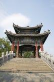 亚洲人中国,北京,颐和园, XI二,桥梁,亭子 免版税库存照片